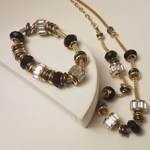 Jewelry - Slide Necklace & Bracelet Set